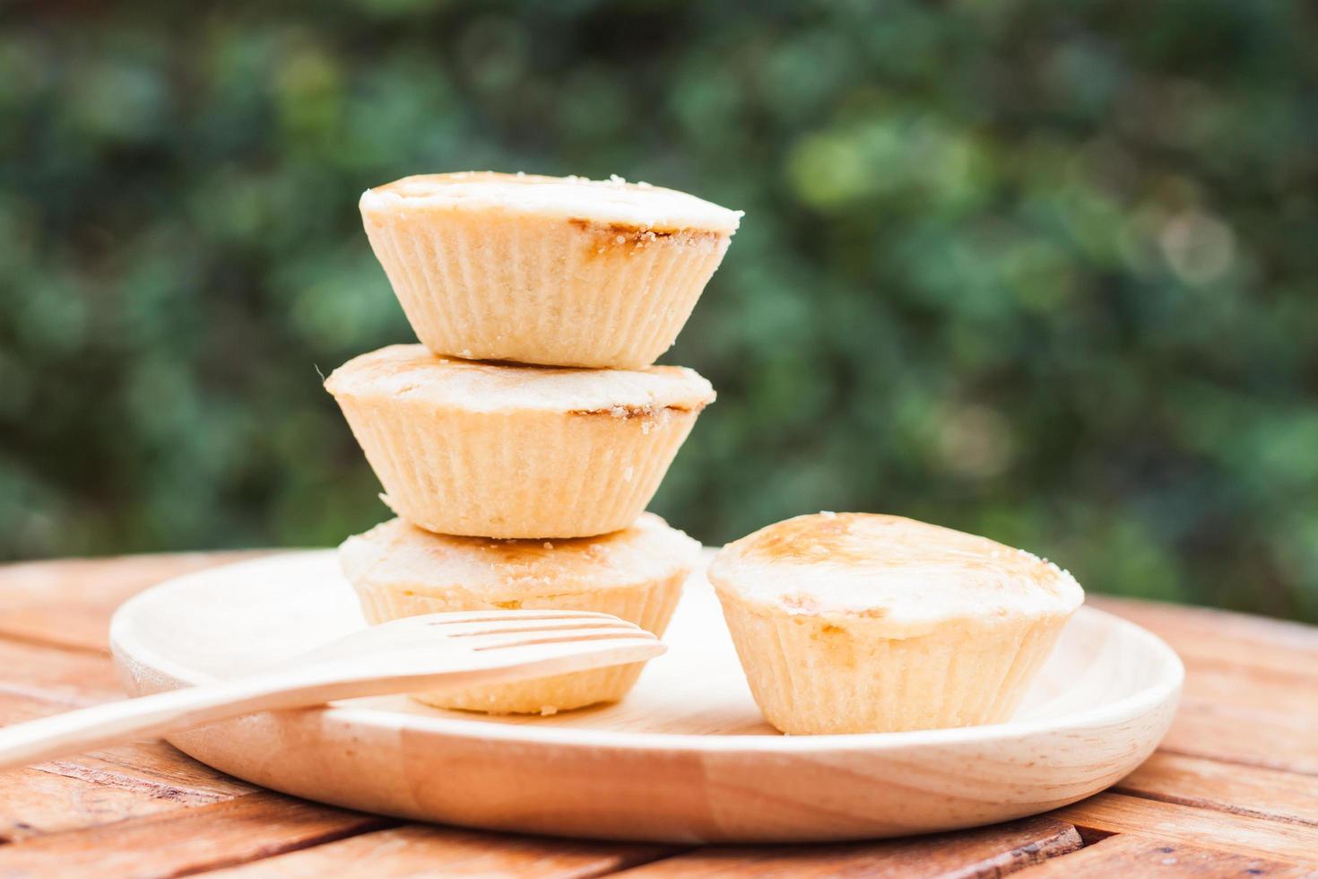 close-up van taarten op een bord foto