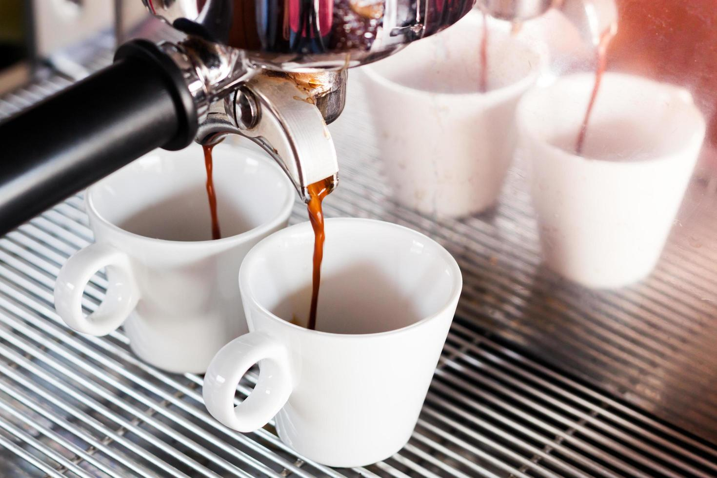 espresso in een coffeeshop foto