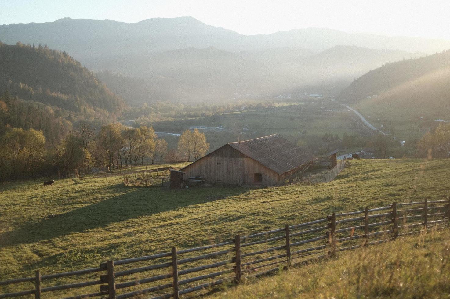 platteland landschapsmening foto