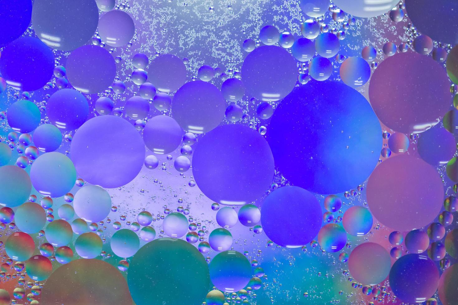 olie en water abstracte macroachtergrond foto