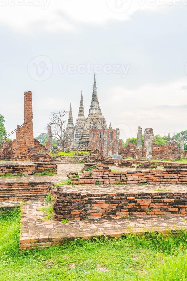 historisch van ayutthaya in Thailand foto