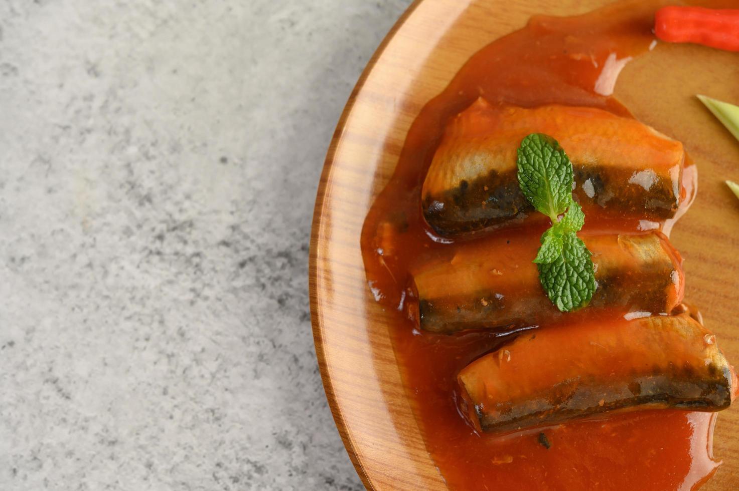 sardines in tomatensaus foto