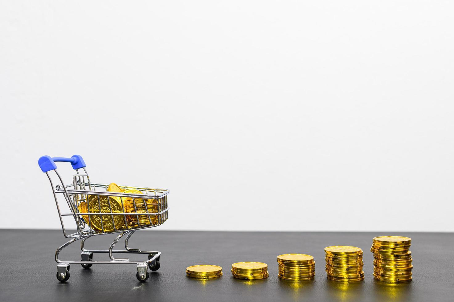 concept van financiële groei met munten foto