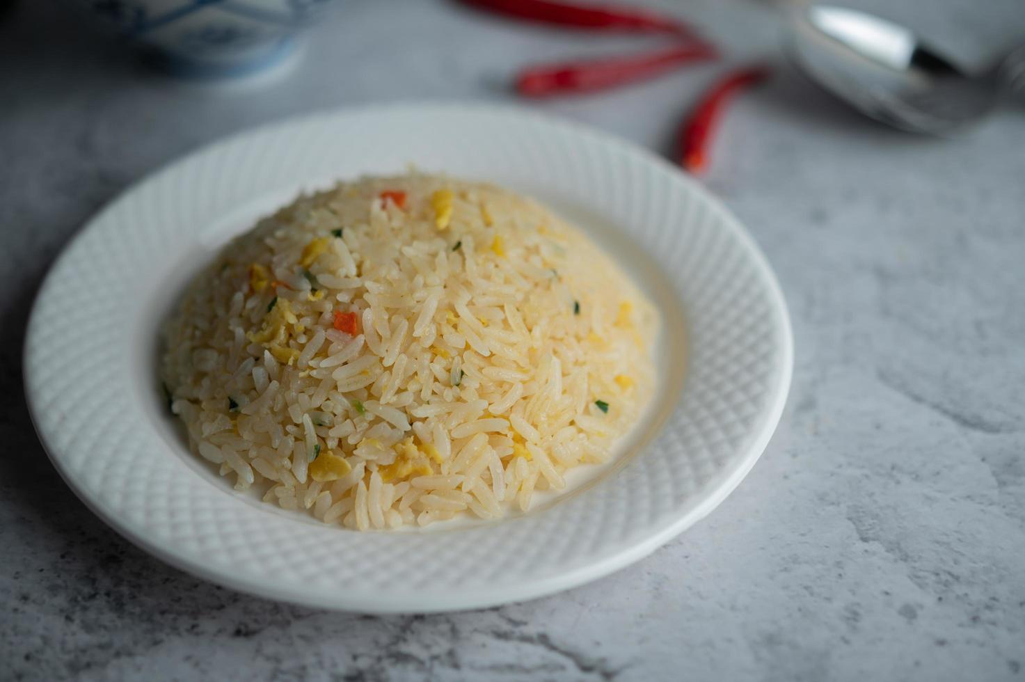gebakken rijstgerecht foto