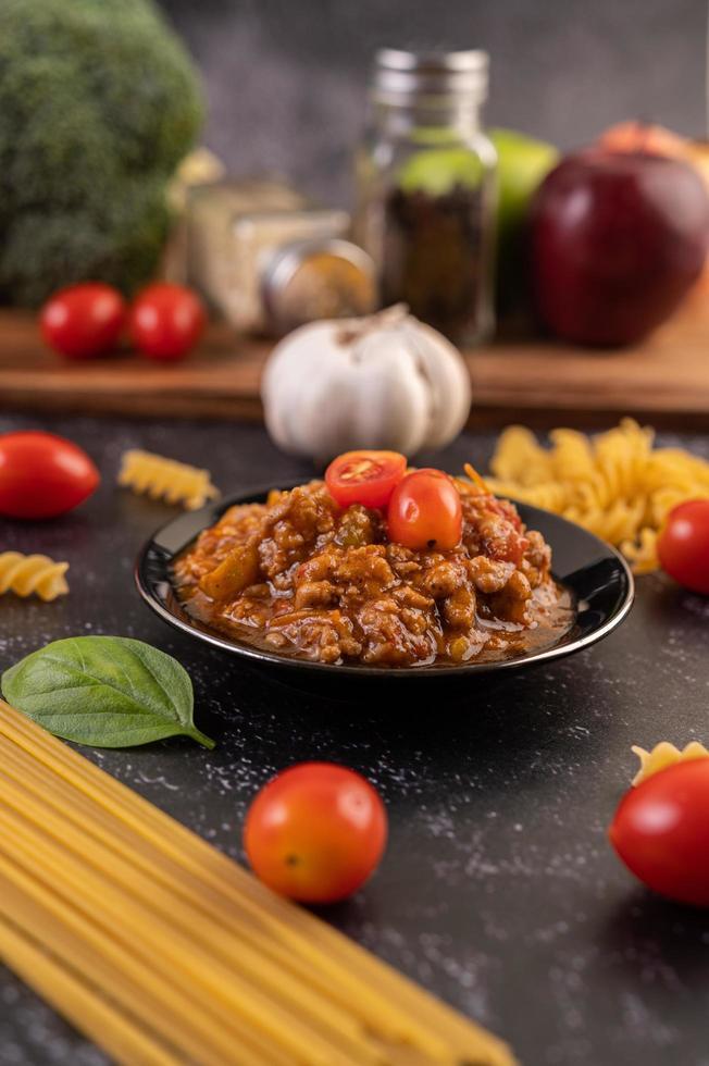 huisgemaakte pastasaus foto