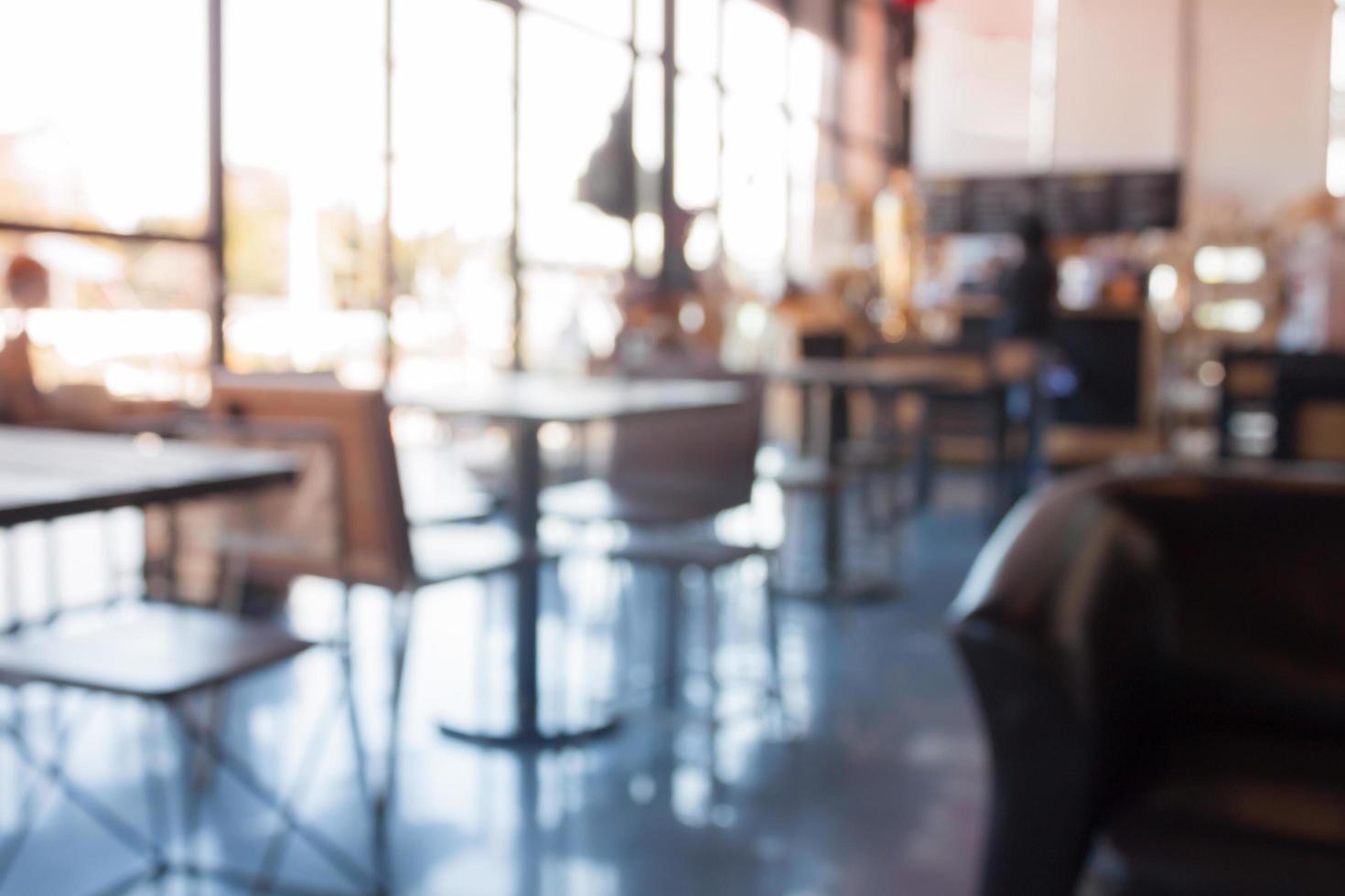 wazig koffiehuis achtergrond foto