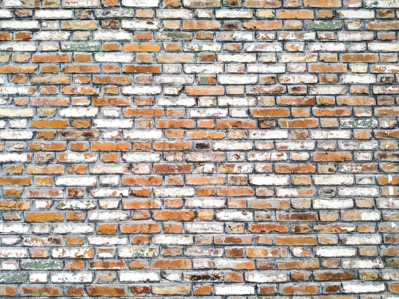 rustieke bakstenen muur foto