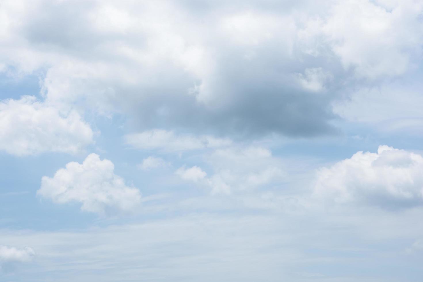 de lucht en de wolken foto