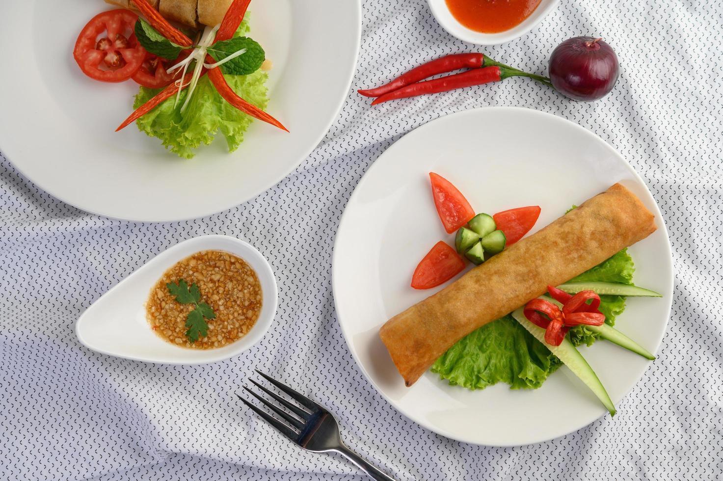 gebakken Thaise loempia's foto