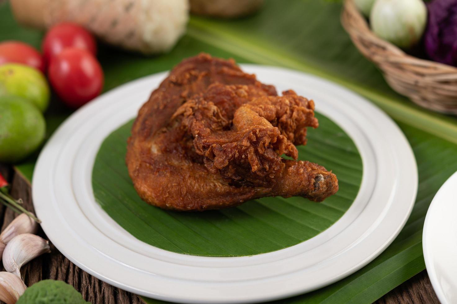 gebakken kippendijen foto