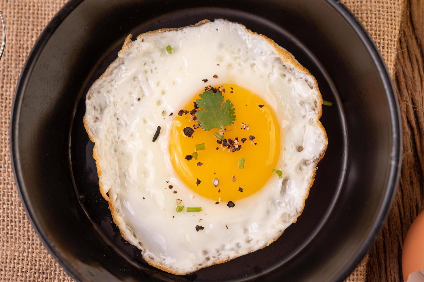 gebakken ei ontbijt foto
