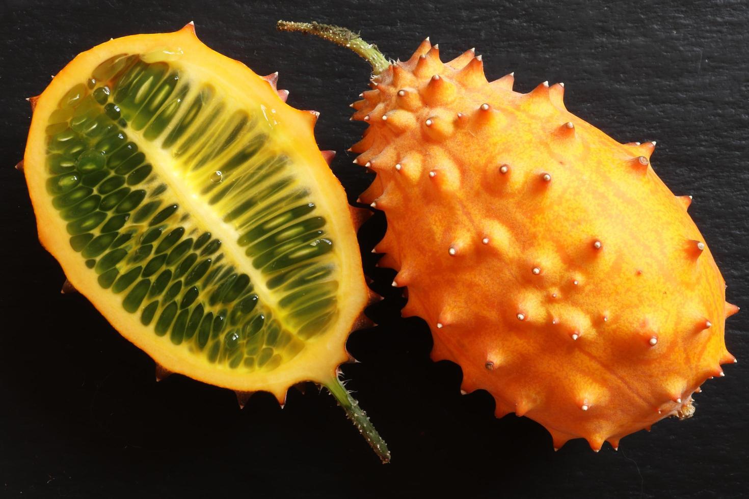 gehoornde meloen fruit foto