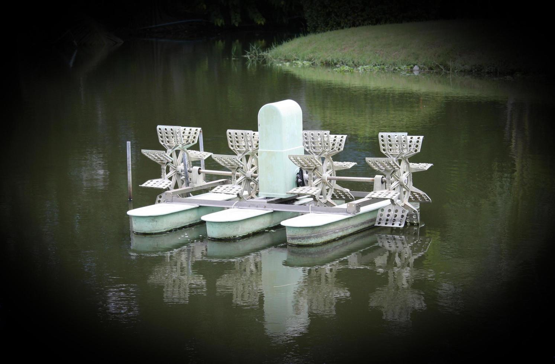 watermolen in water foto
