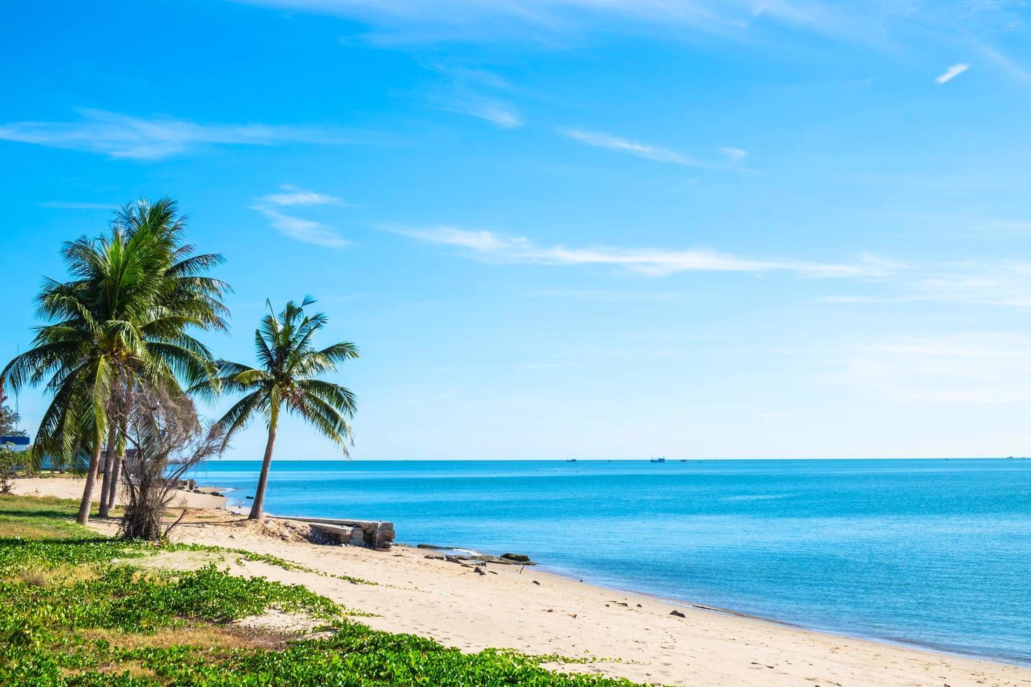 prachtige stranden en helder water in de zomer foto
