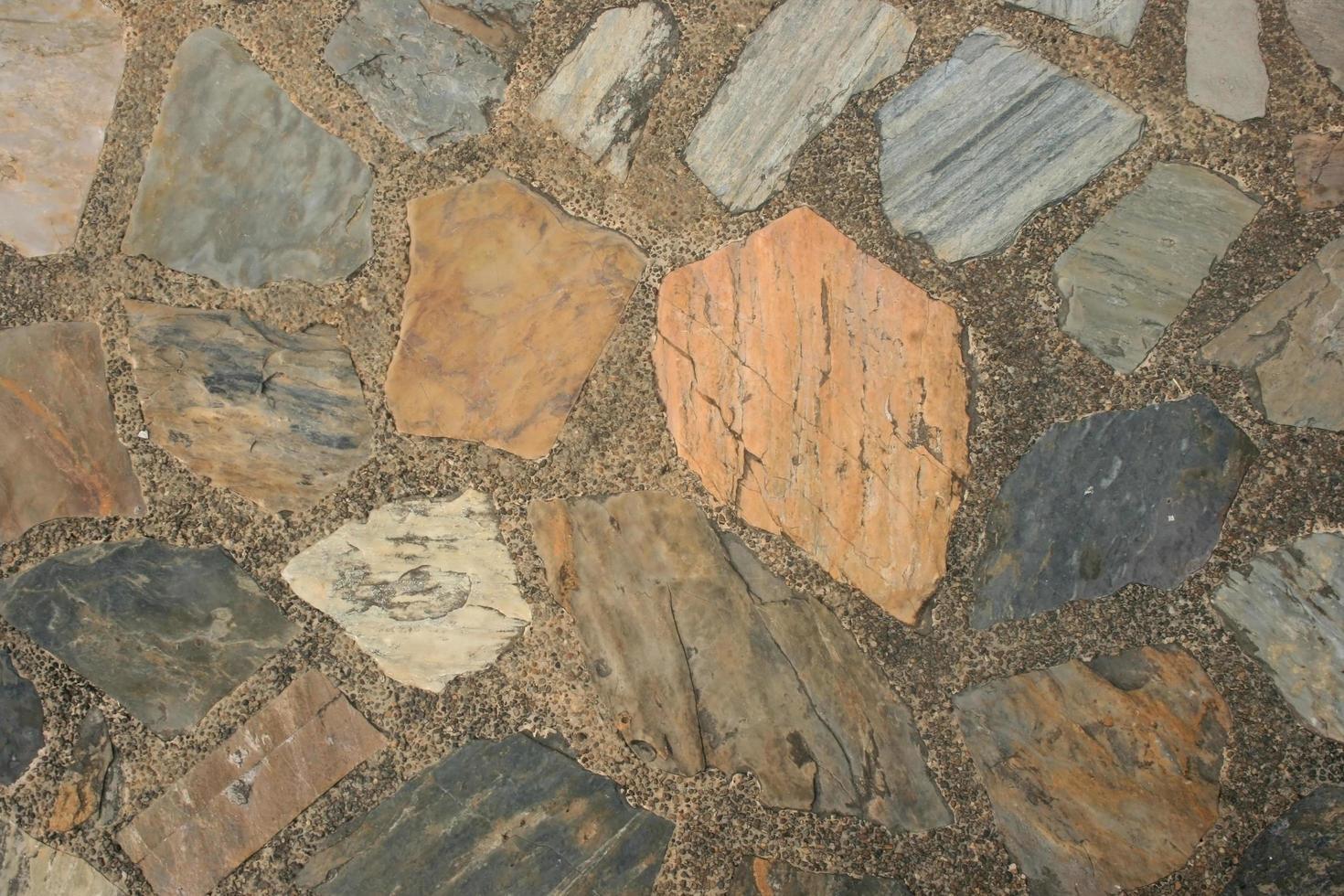 rustieke stenen vloer foto