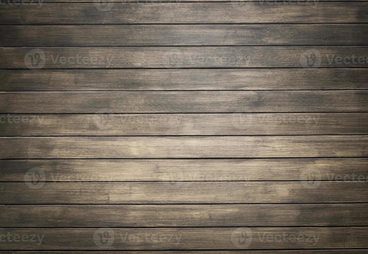houten muur achtergrond met vignet foto