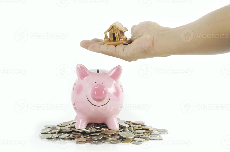 sparen voor een huisconcept foto