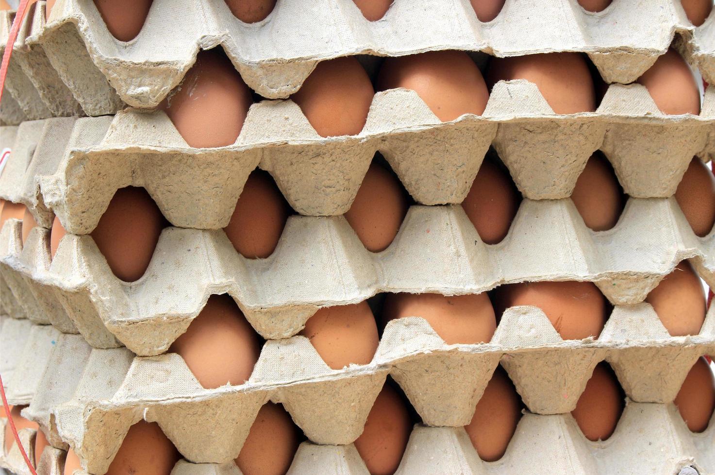 stapel eieren foto