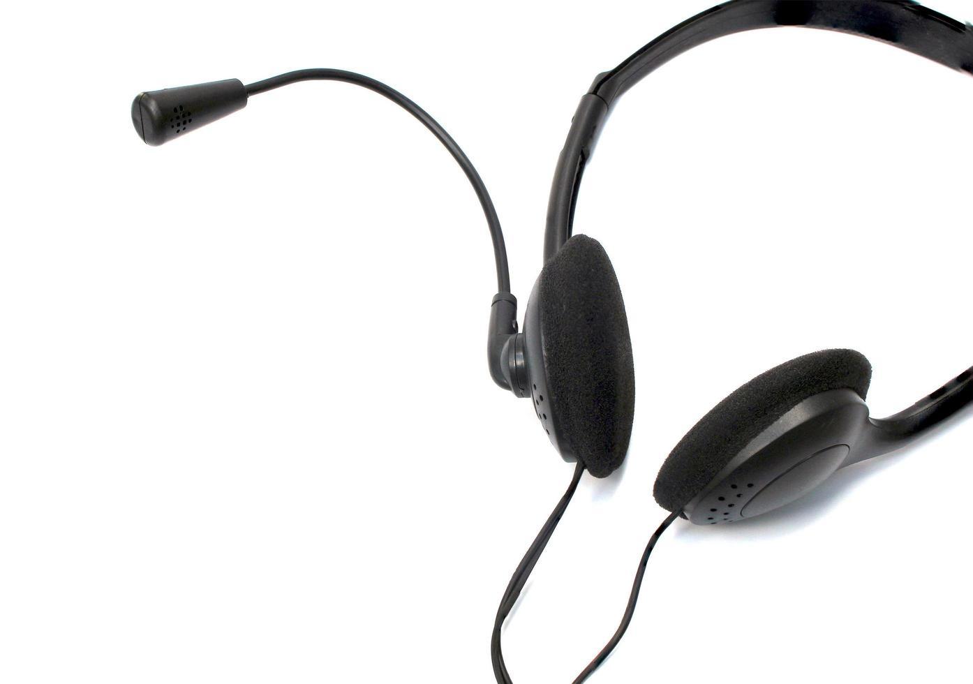 hoofdtelefoon met microfoon foto