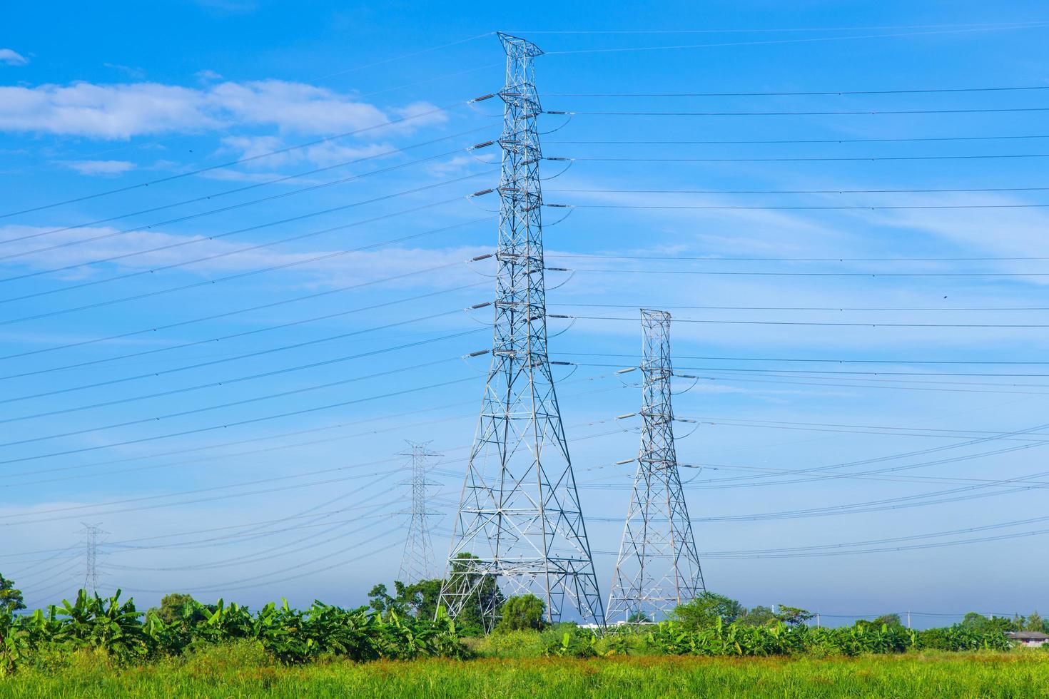 hoogspanningstorens in Thailand foto