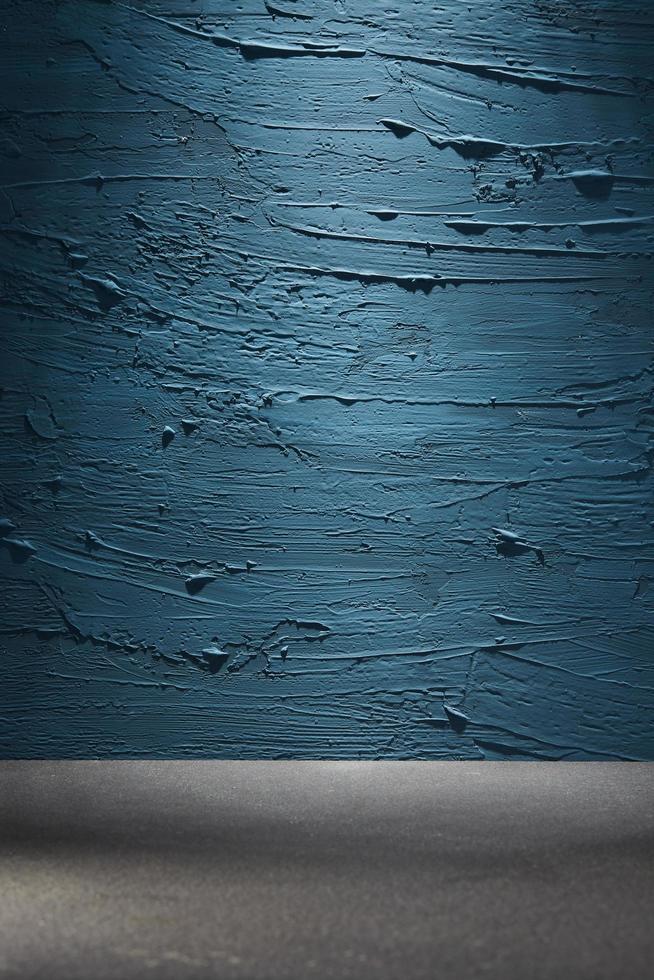 blauwe verf en grijs oppervlak foto