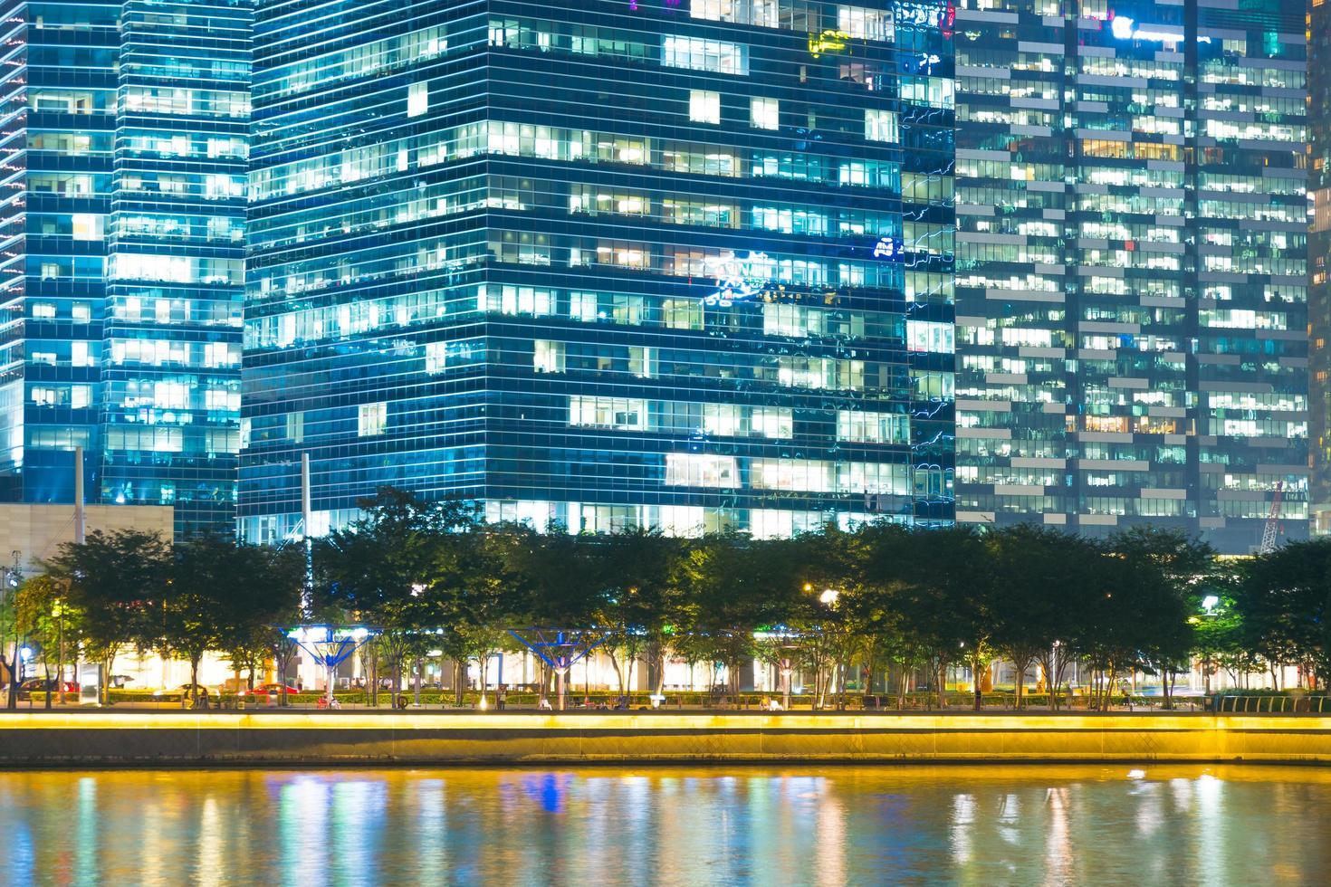 waterkant in de stad Singapore foto