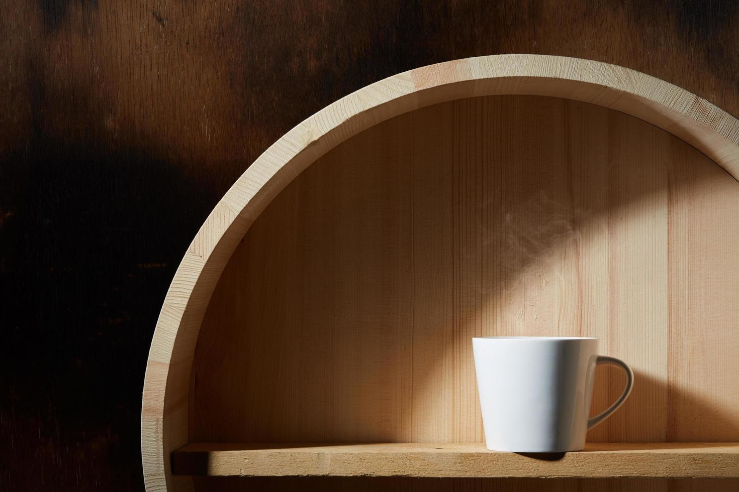 stilleven van koffiekopje foto