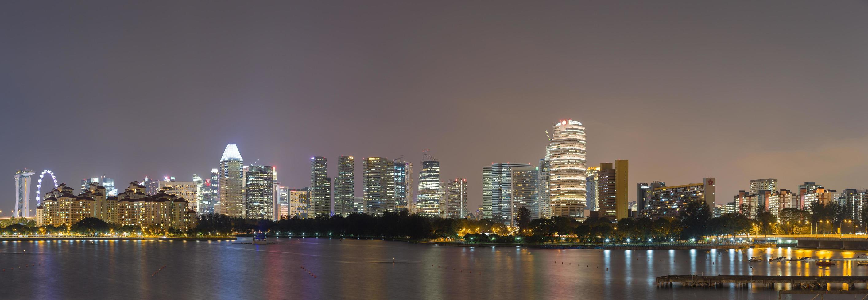 skyline van singapore foto