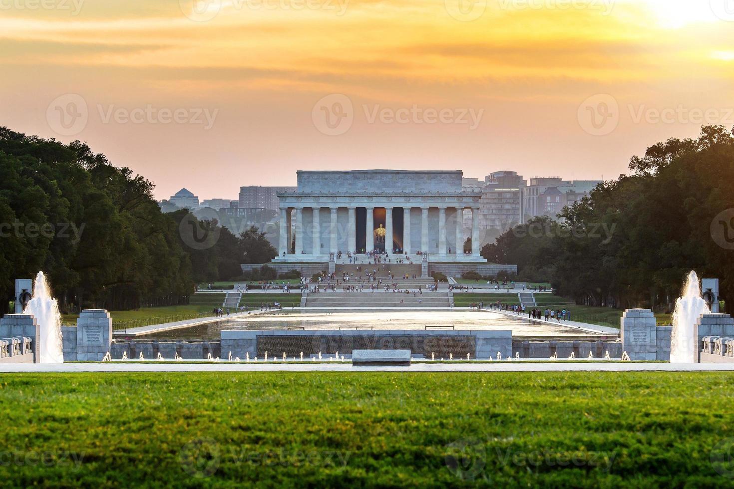 Lincoln Memorial in Washington DC, Verenigde Staten foto