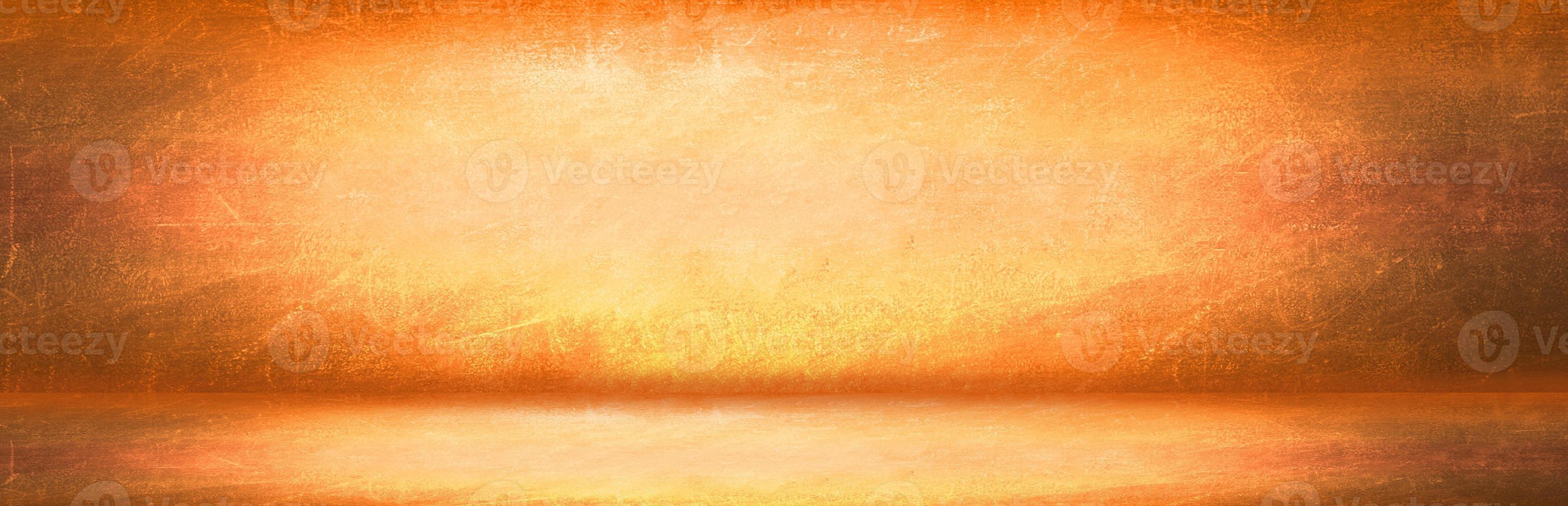 gele en oranje grunge muur achtergrond foto