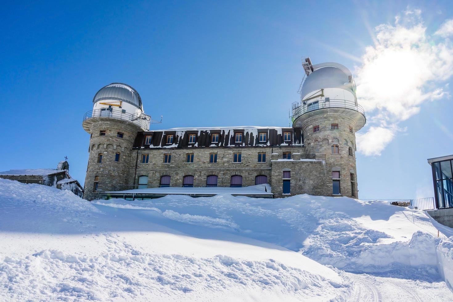 het observatorium op de Gornergrat-top in Zwitserland, 2018 foto