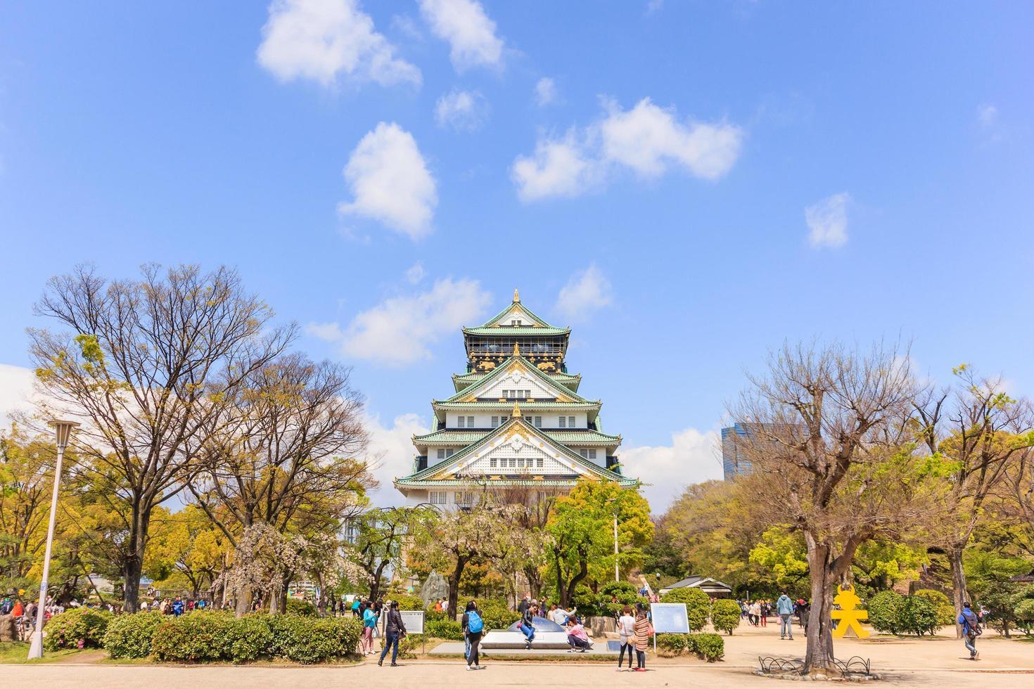 osaka kasteel in osaka, japan, 2015 foto