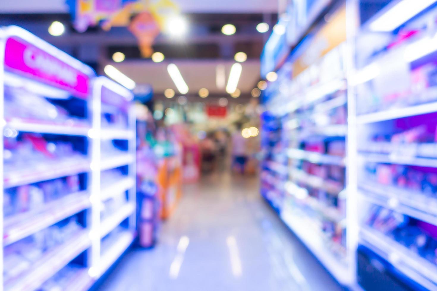 abstract vervagen en defocus supermarkt interieur foto