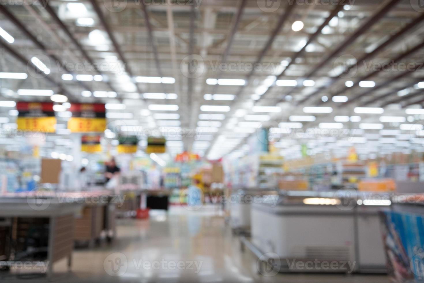 wazig supermarkt achtergrond foto