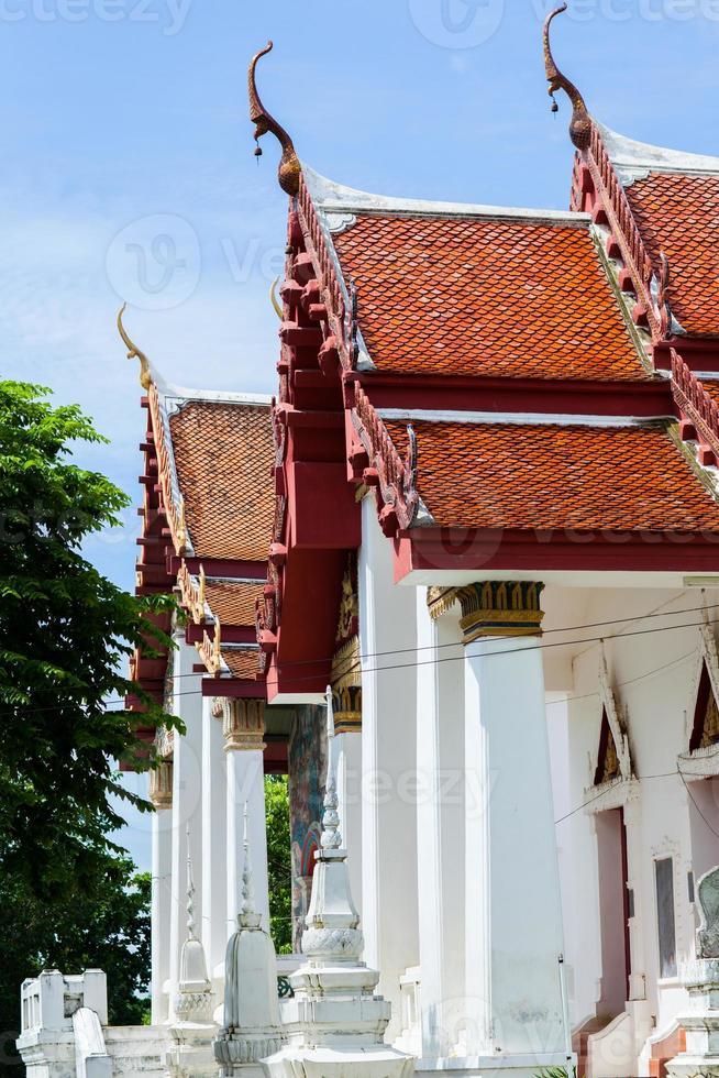 chachoengsao, thailand, 2020 - wat hong thong gedurende de dag foto