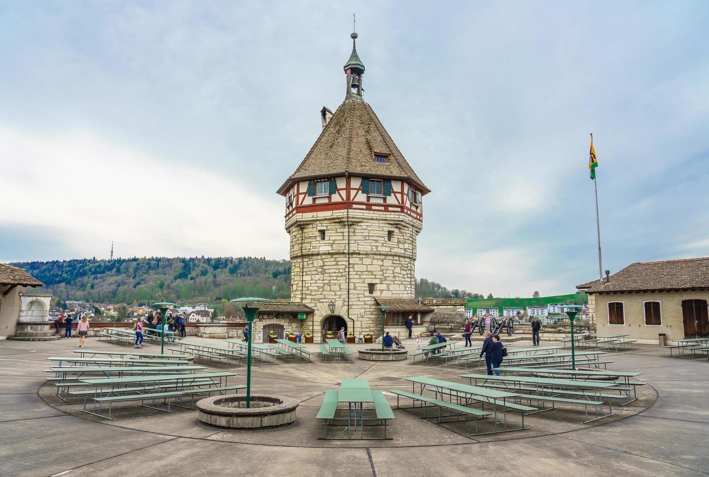fort van munot in schaffhausen, zwitserland foto