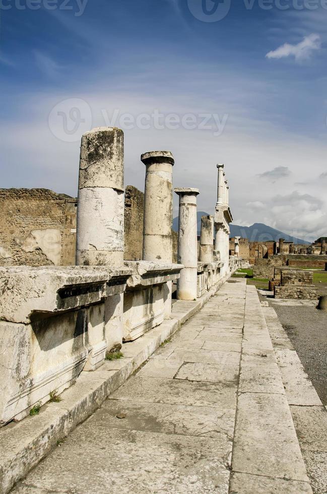 Pompeii ruïnes in Italië foto
