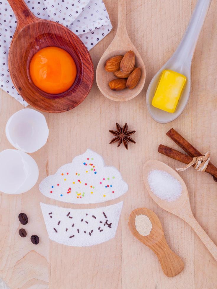 ingrediënten voor cupcakes foto