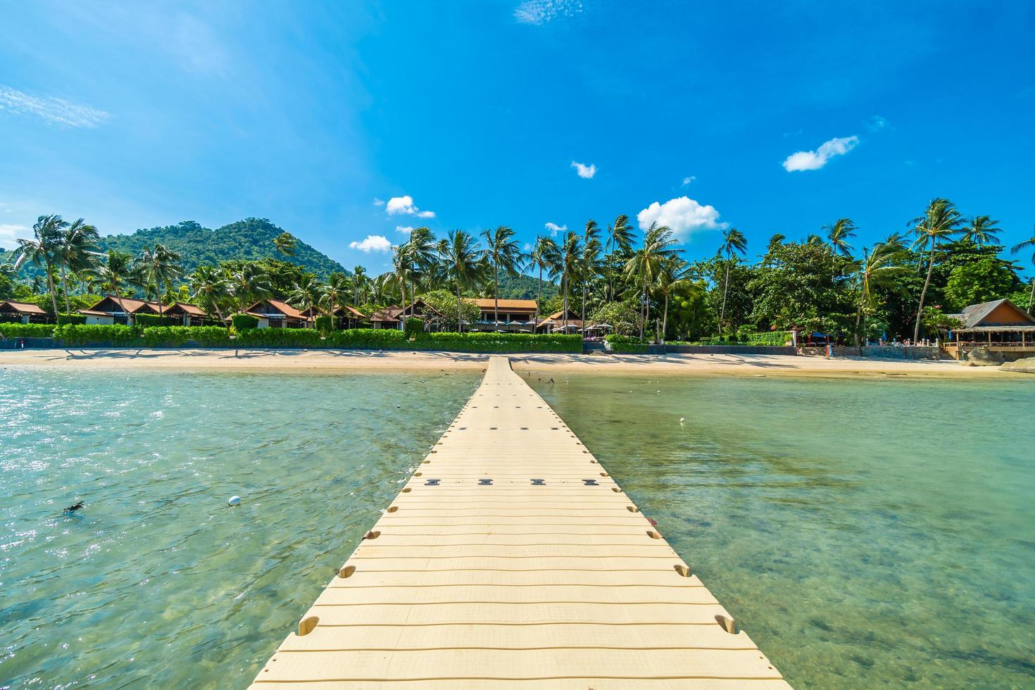 prachtig tropisch strand foto
