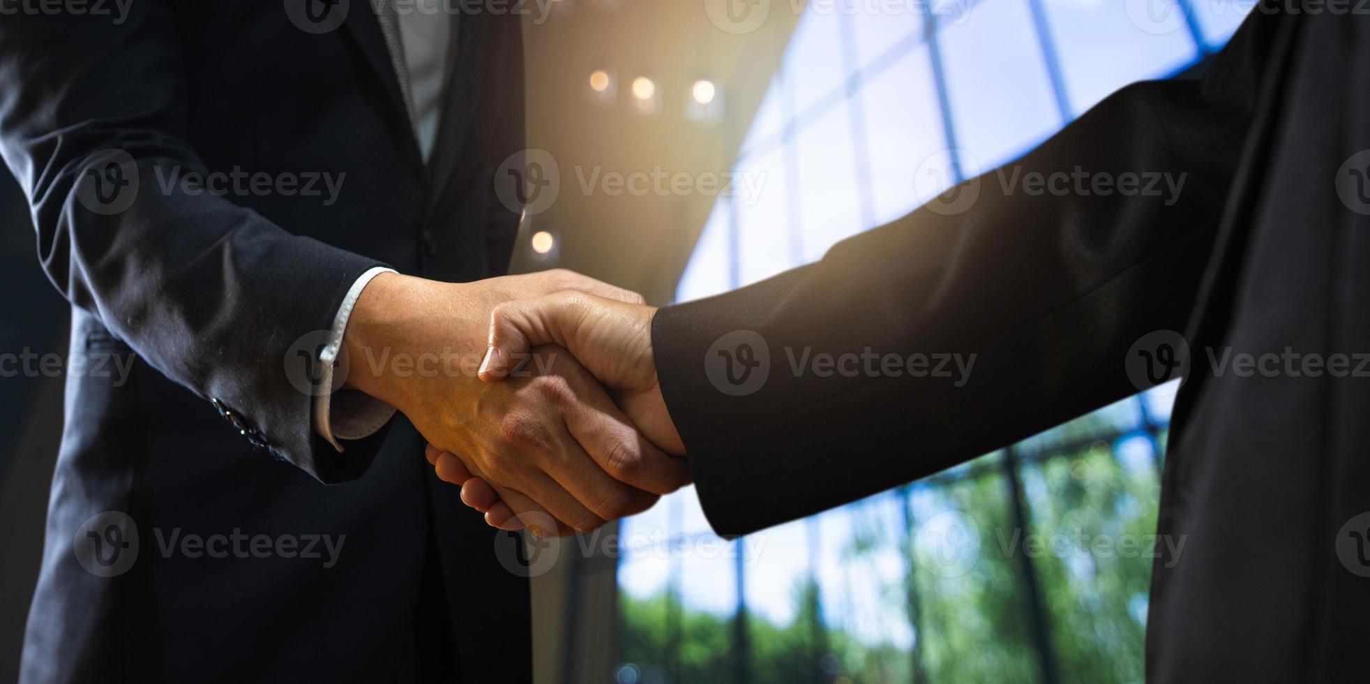 succesvol onderhandelingsconcept foto