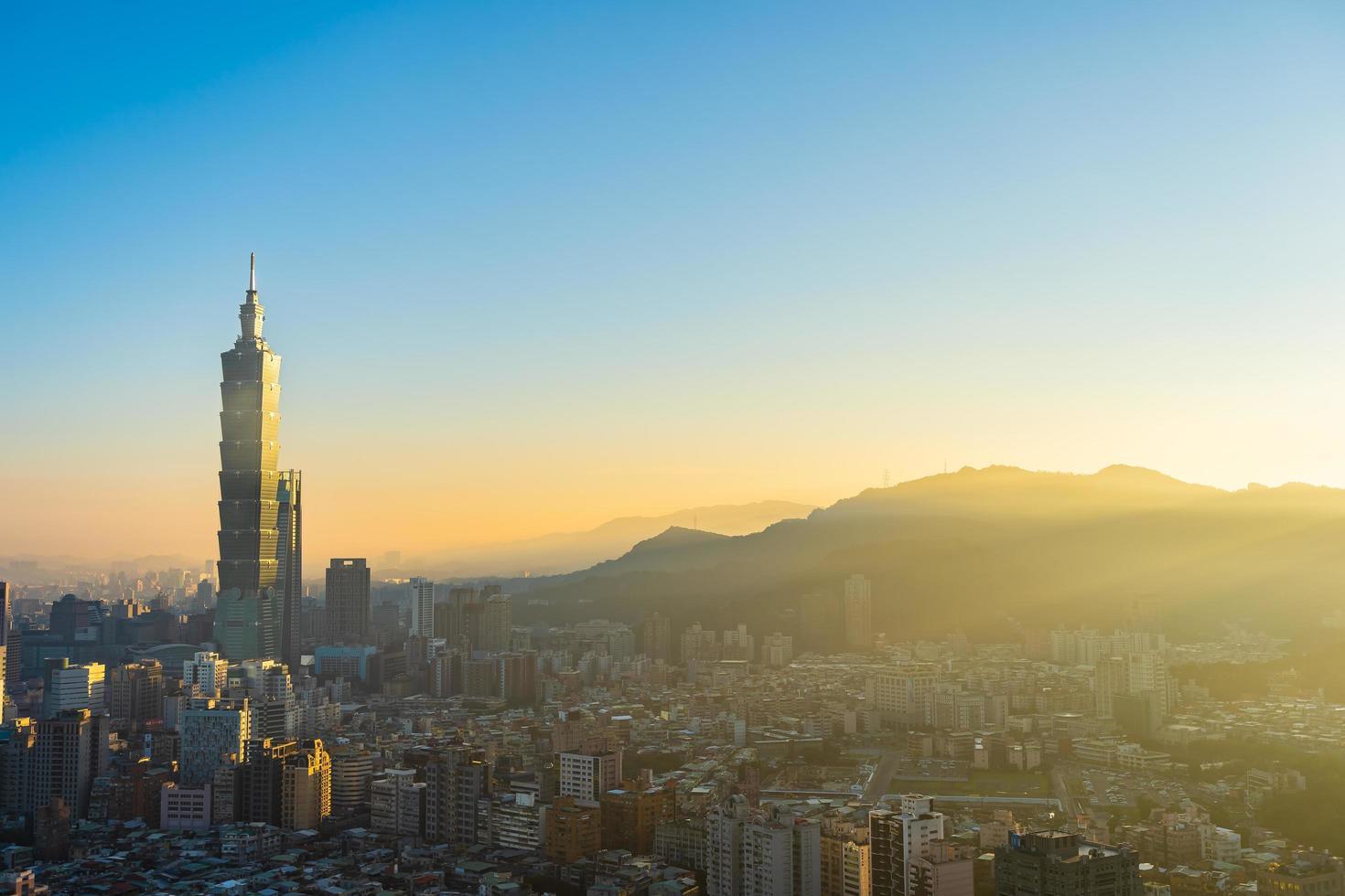 taipei 101 toren in de stad van taipei, taiwan foto