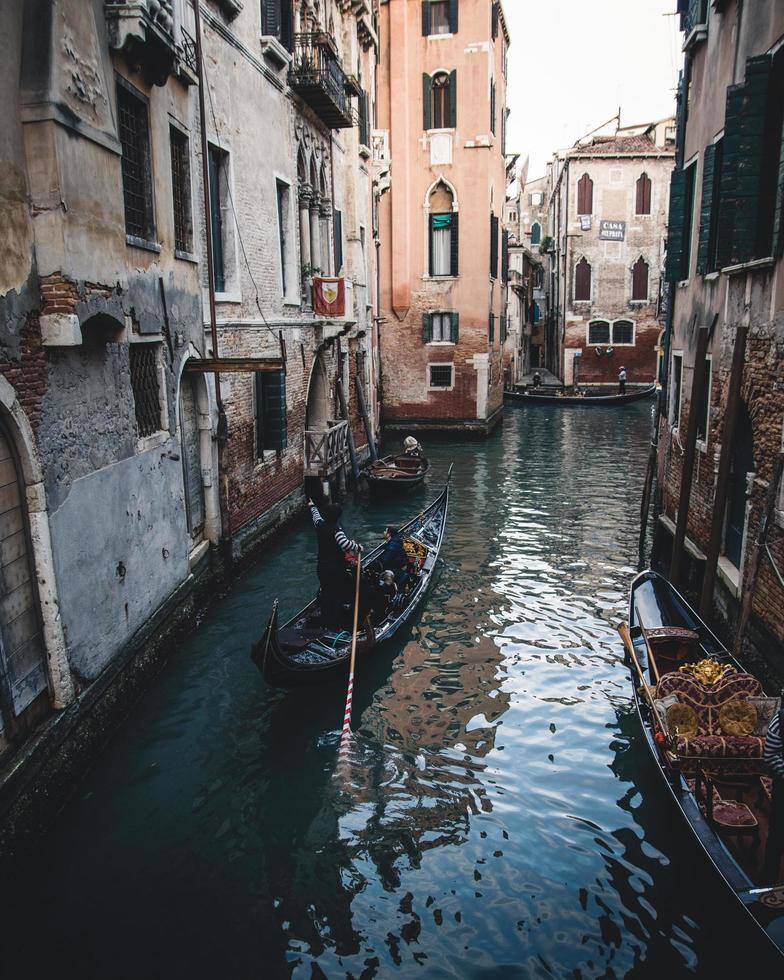 een gondel in Venetië, Italië foto