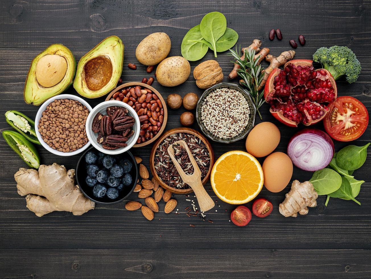vers gezond voedsel foto
