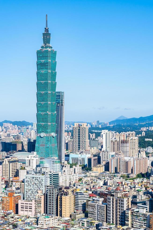 taipei 101 toren in taipei, taiwan foto