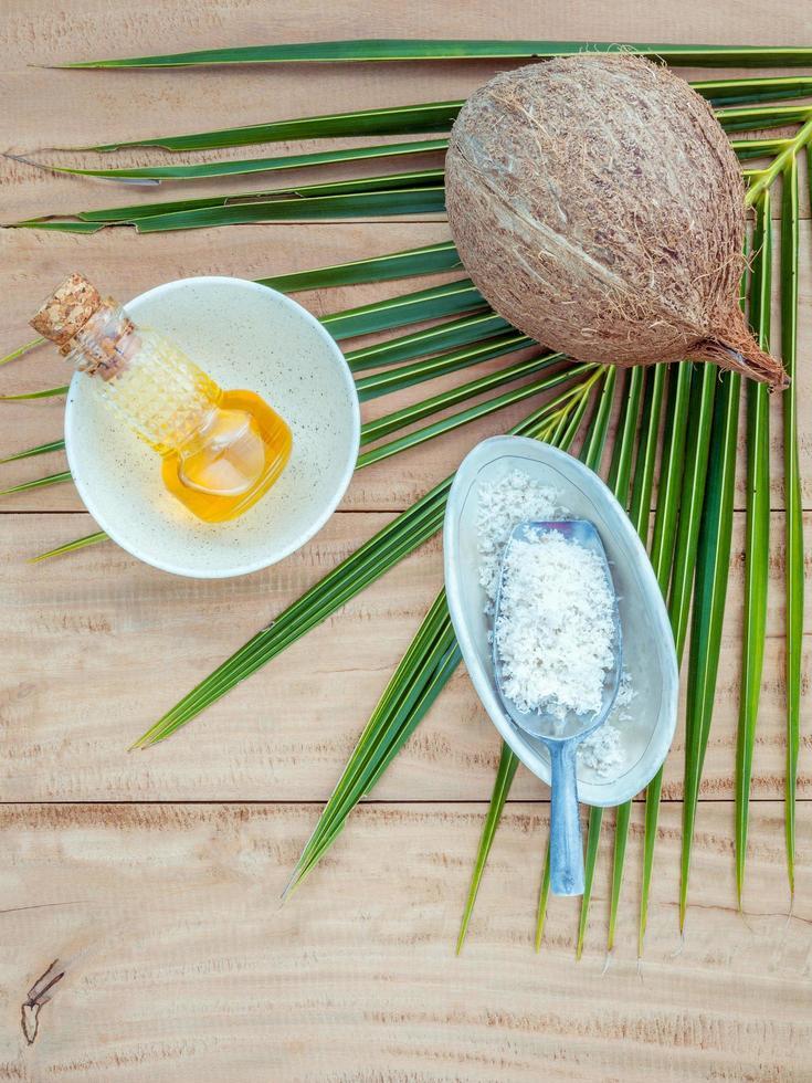 Coconut huidverzorgingsproducten foto