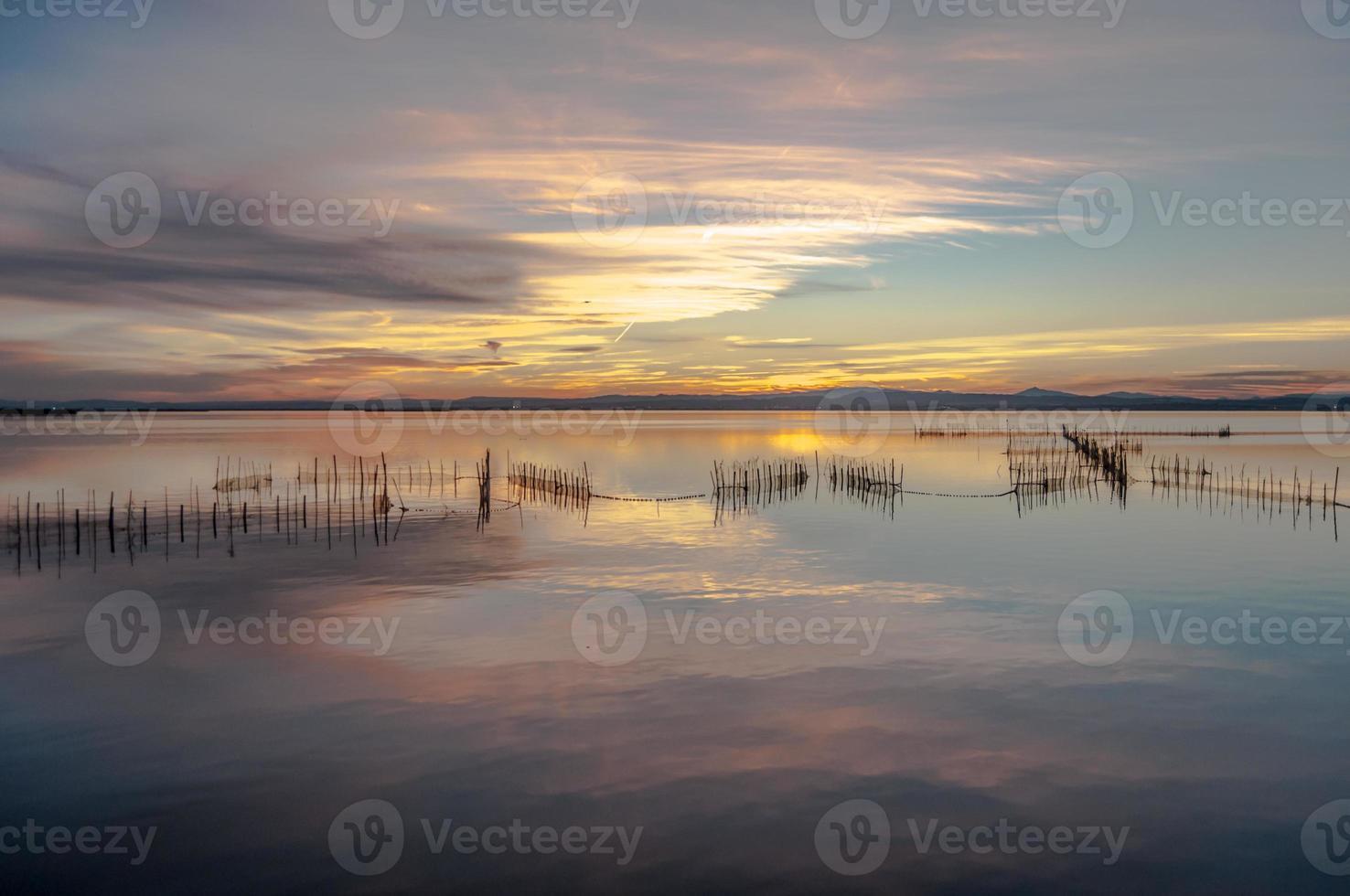albufera estuarium in valencia, spanje foto