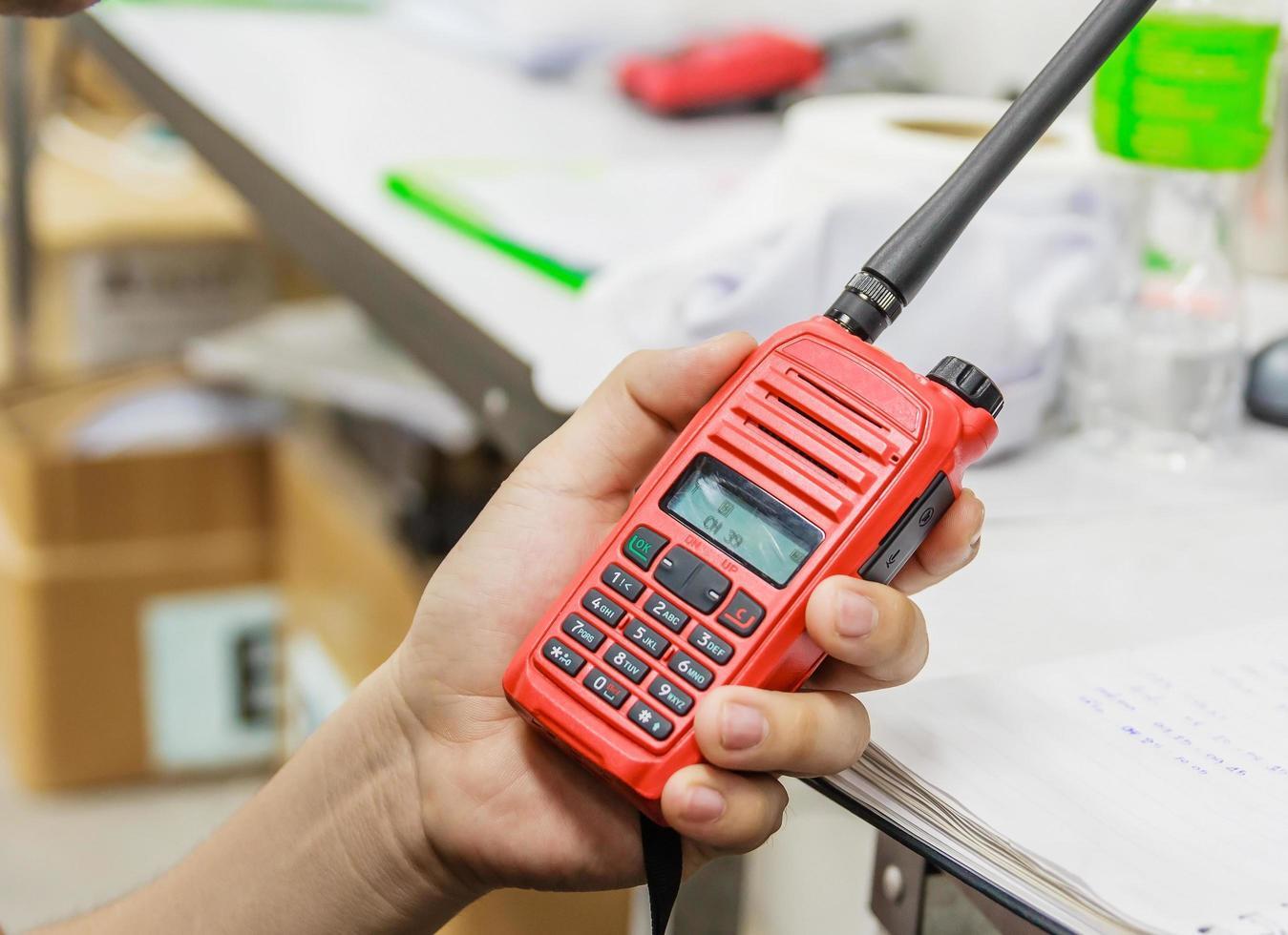 handheld walkie talkie communicatie radio foto