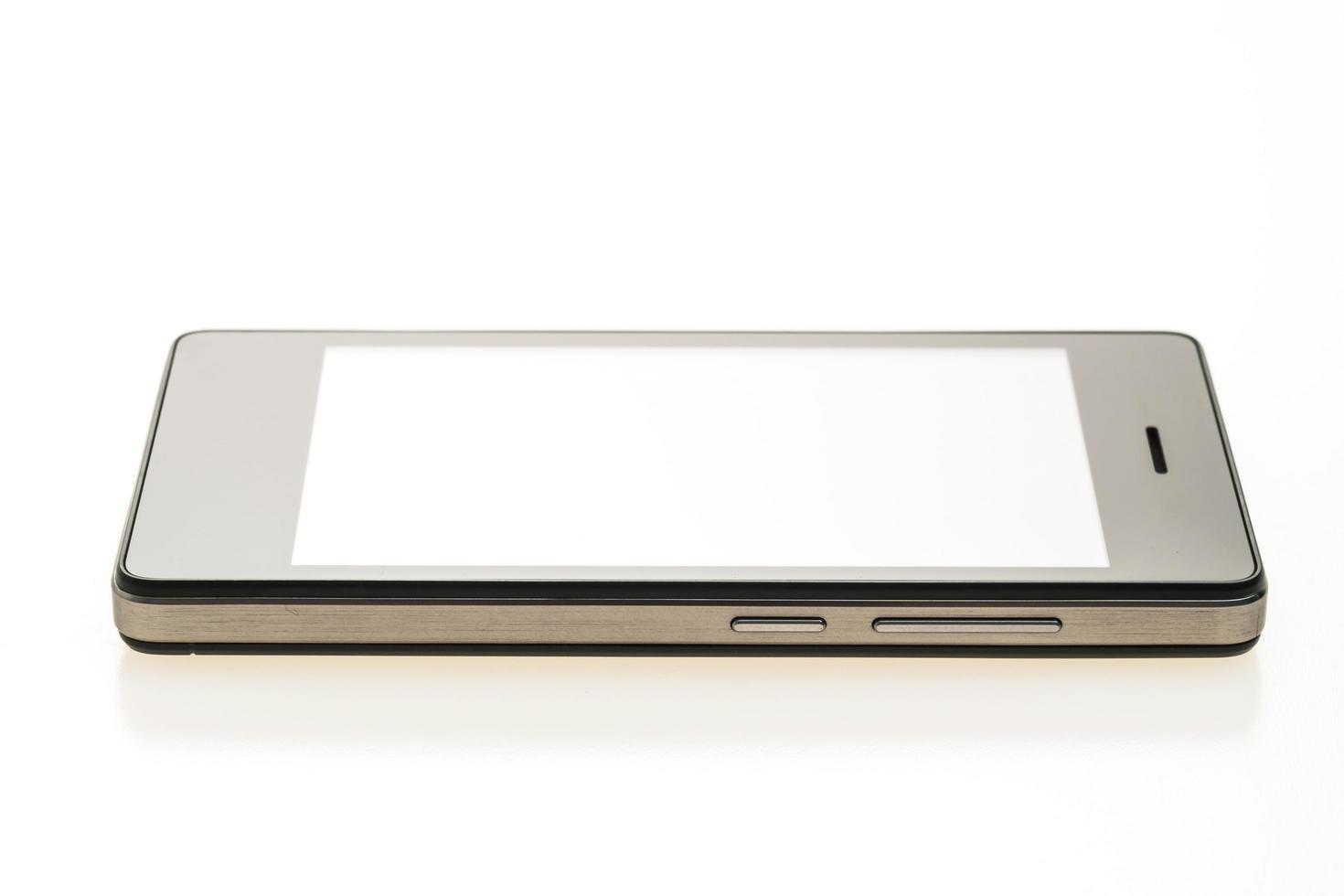 smartphone op witte achtergrond foto