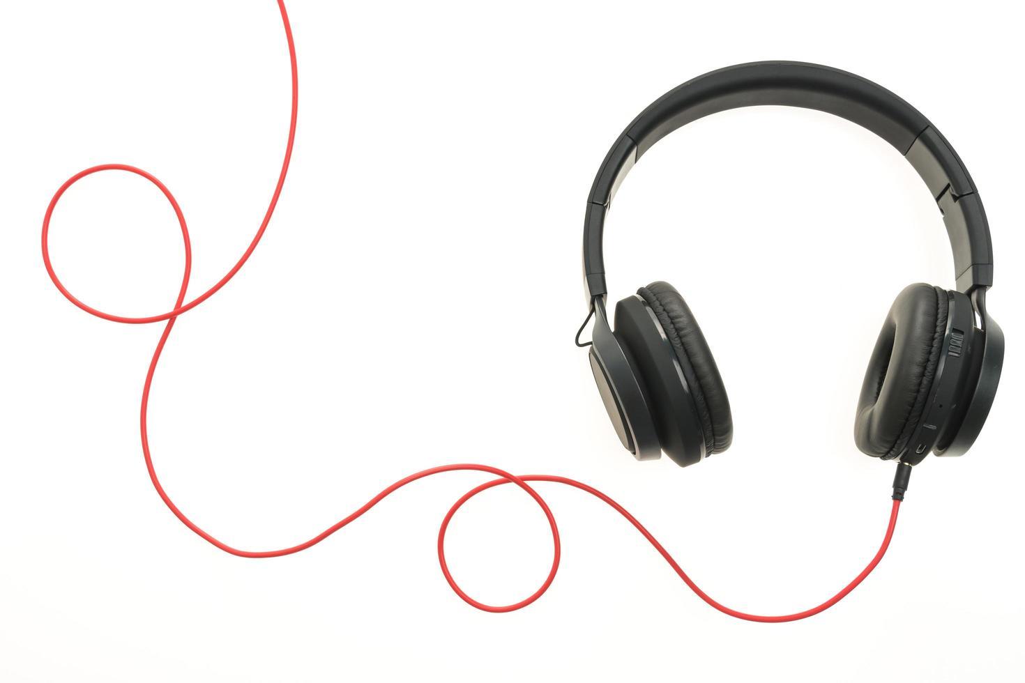 koptelefoon op witte achtergrond foto