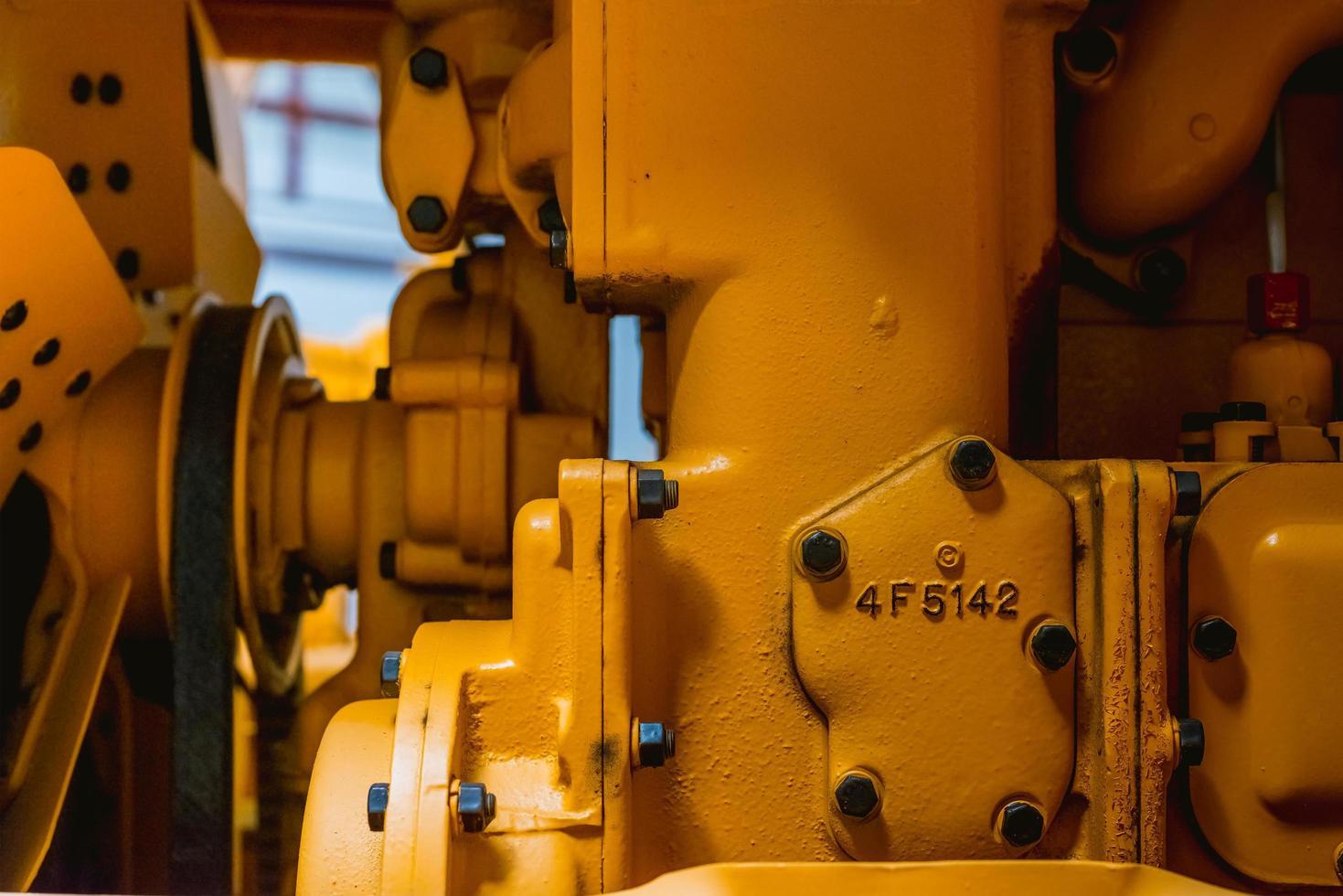motor van een landbouwvoertuig foto